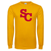 Gold Long Sleeve T Shirt-SC Interlocking