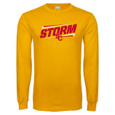 Gold Long Sleeve T Shirt-Storm SC Graphic