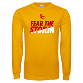 Gold Long Sleeve T Shirt-SC Fear the Storm