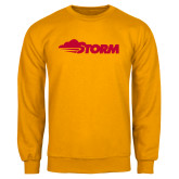 Gold Fleece Crew-Storm Secondary Logo