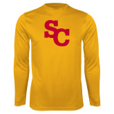 Performance Gold Longsleeve Shirt-SC Interlocking