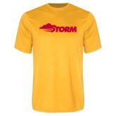 Performance Gold Tee-Storm Secondary Logo