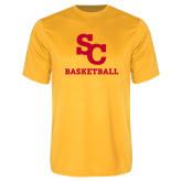 Performance Gold Tee-SC Basketball