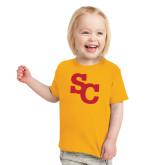 Toddler Gold T Shirt-SC Interlocking