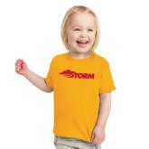 Toddler Gold T Shirt-Storm Secondary Logo