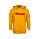 Youth Gold Fleece Hoodie-Storm Secondary Logo