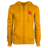 ENZA Ladies Gold Fleece Full Zip Hoodie-SC Interlocking