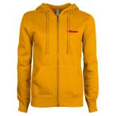 ENZA Ladies Gold Fleece Full Zip Hoodie-Storm Secondary Logo