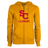 ENZA Ladies Gold Fleece Full Zip Hoodie-SC Alumni