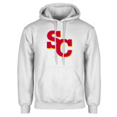 White Fleece Hoodie-SC Interlocking