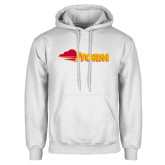 White Fleece Hoodie-Storm Secondary Logo