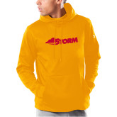 Under Armour Gold Armour Fleece Hoodie-Storm Secondary Logo