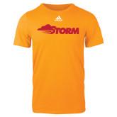 Adidas Gold Logo T Shirt-Storm Secondary Logo