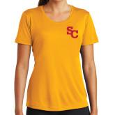 Ladies Syntrel Performance Gold Tee-SC Interlocking