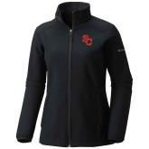 Columbia Ladies Sweet As Black Hooded Jacket-SC Interlocking