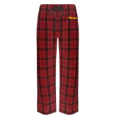 Red/Black Flannel Pajama Pant-Storm Secondary Logo