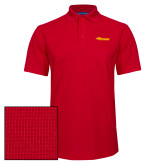 Red Dry Zone Grid Polo-Storm Secondary Logo