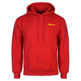 Red Fleece Hoodie-Storm Secondary Logo