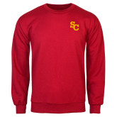 Red Fleece Crew-SC Interlocking