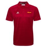 Adidas Climalite Red Jacquard Select Polo-Storm Secondary Logo