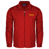 Full Zip Red Wind Jacket-Storm Secondary Logo
