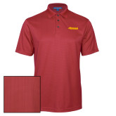 Red Performance Fine Jacquard Polo-Simpson College Storm Logo
