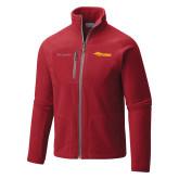 Columbia Full Zip Red Fleece Jacket-Storm Secondary Logo