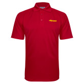 Red Textured Saddle Shoulder Polo-Storm Secondary Logo