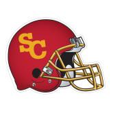 Football Helmet Magnet-SC Interlocking, 6 inches wide