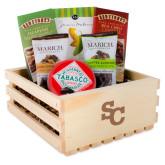 Wooden Gift Crate-SC Interlocking Engraved
