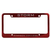 Metal Red License Plate Frame-Storm