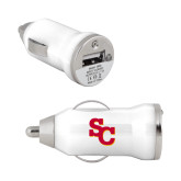 On the Go White Car Charger-SC Interlocking