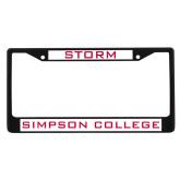 Metal License Plate Frame in Black-Storm
