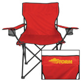 Deluxe Red Captains Chair-Storm Secondary Logo