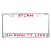 Metal License Plate Frame in Chrome-Storm