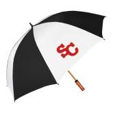 62 Inch Black/White Vented Umbrella-SC Interlocking