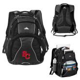 High Sierra Swerve Black Compu Backpack-SC Interlocking