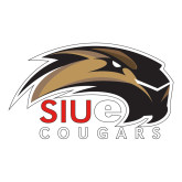 Large Decal-SIUE Cougars Official Logo, 12 inches wide