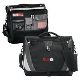 Slope Black/Grey Compu Messenger Bag-SIUE