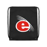 Black Drawstring Backpack-e Slash Mark