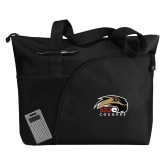 Excel Black Sport Utility Tote-SIUE Cougars Official Logo