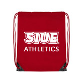 Red Drawstring Backpack-SIUE