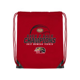 Nylon Red Drawstring Backpack-2017 Womens Tennis Back 2 Back Champions