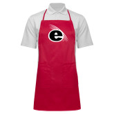 Full Length Red Apron-e Slash Mark