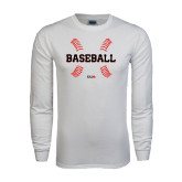 White Long Sleeve T Shirt-Baseball Seams
