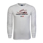 White Long Sleeve T Shirt-Cross Country Shoe