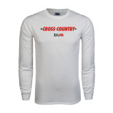 White Long Sleeve T Shirt-Cross Country Arrow