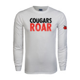 White Long Sleeve T Shirt-Cougars Roar