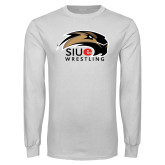 White Long Sleeve T Shirt-Wrestling