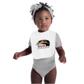 White Baby Bib-SIUE Cougars Official Logo